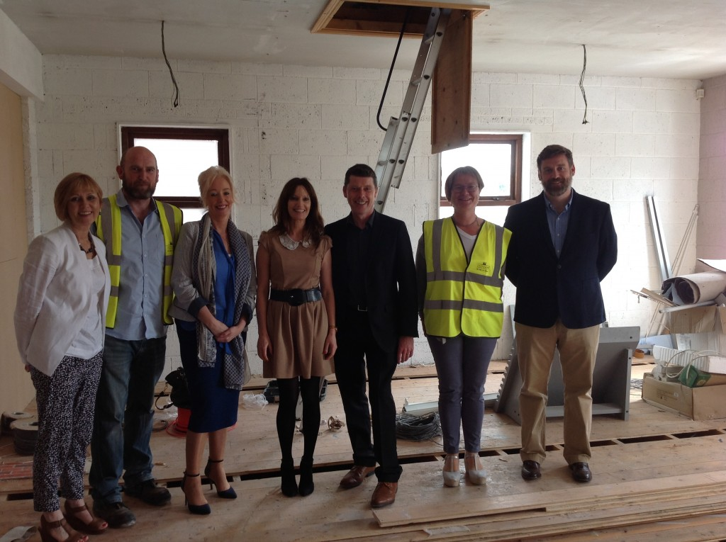 Cathy Kelly (Operations and Development. Pieta House)  Padraig Curran, Terra Nua Building Contractors,  Cindy O'Connor ( Chief Clinical Officer), Noeleen Devlin (Clinical Director) Michael O'Brien, (Centre Manager Pieta South East) Lucia Quealy, terra Nua Building Contractors and Brian Higgins (CEO, Pieta House)